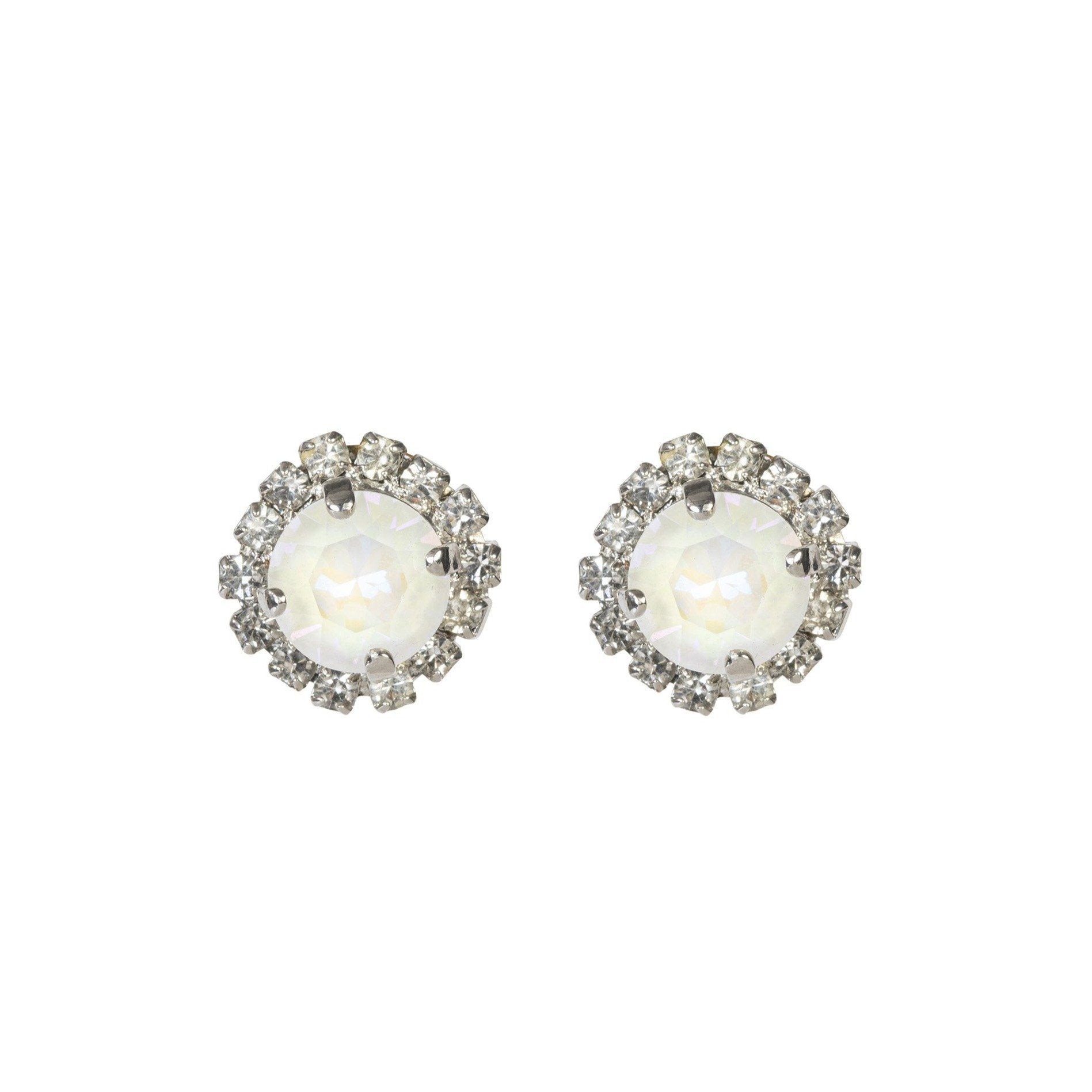 Color Drop Earrings - Glam White