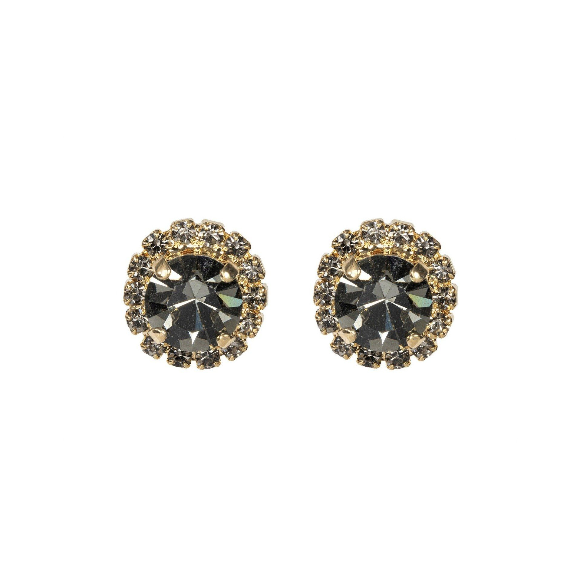 Color Drop Earrings - Black Diamond
