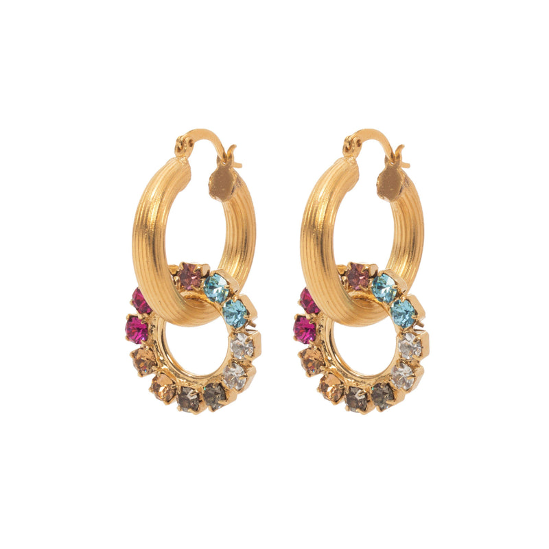 Coravana - Dreamer Hoop Earrings - Color Mix