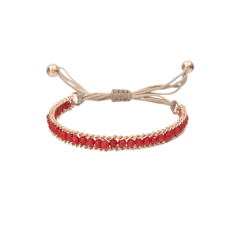 Coravana - Rainbow Loop Bracelet - Red