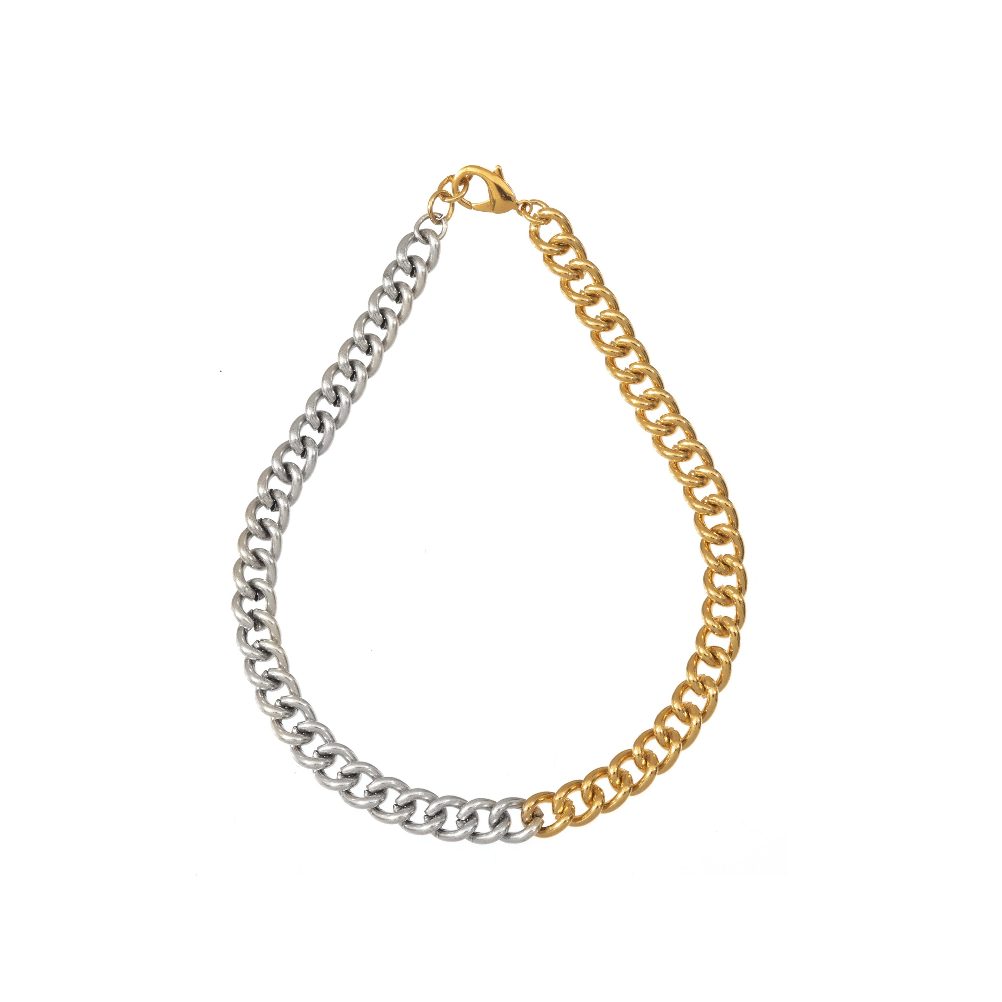 Chunky Chain Necklace- Gold & Silver