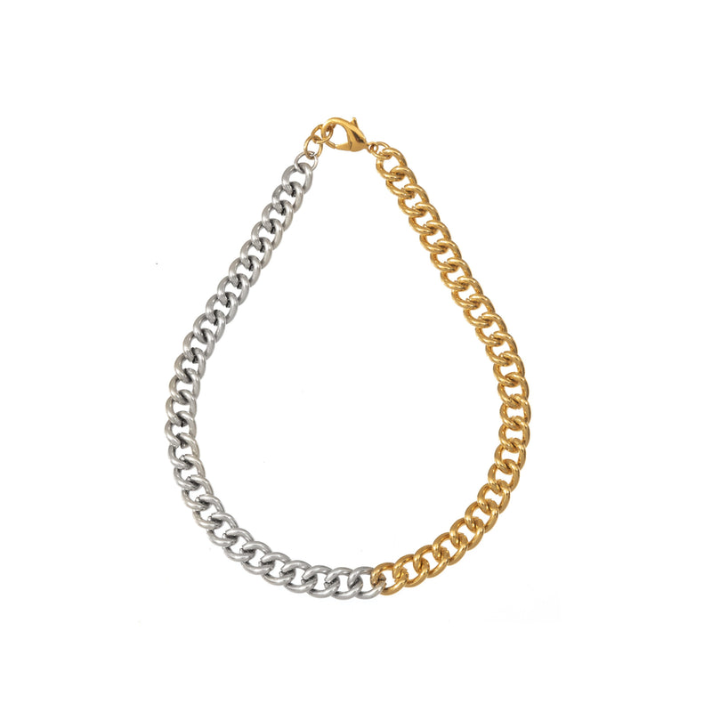 Coravana - Chunky Chain Necklace- Gold & Silver