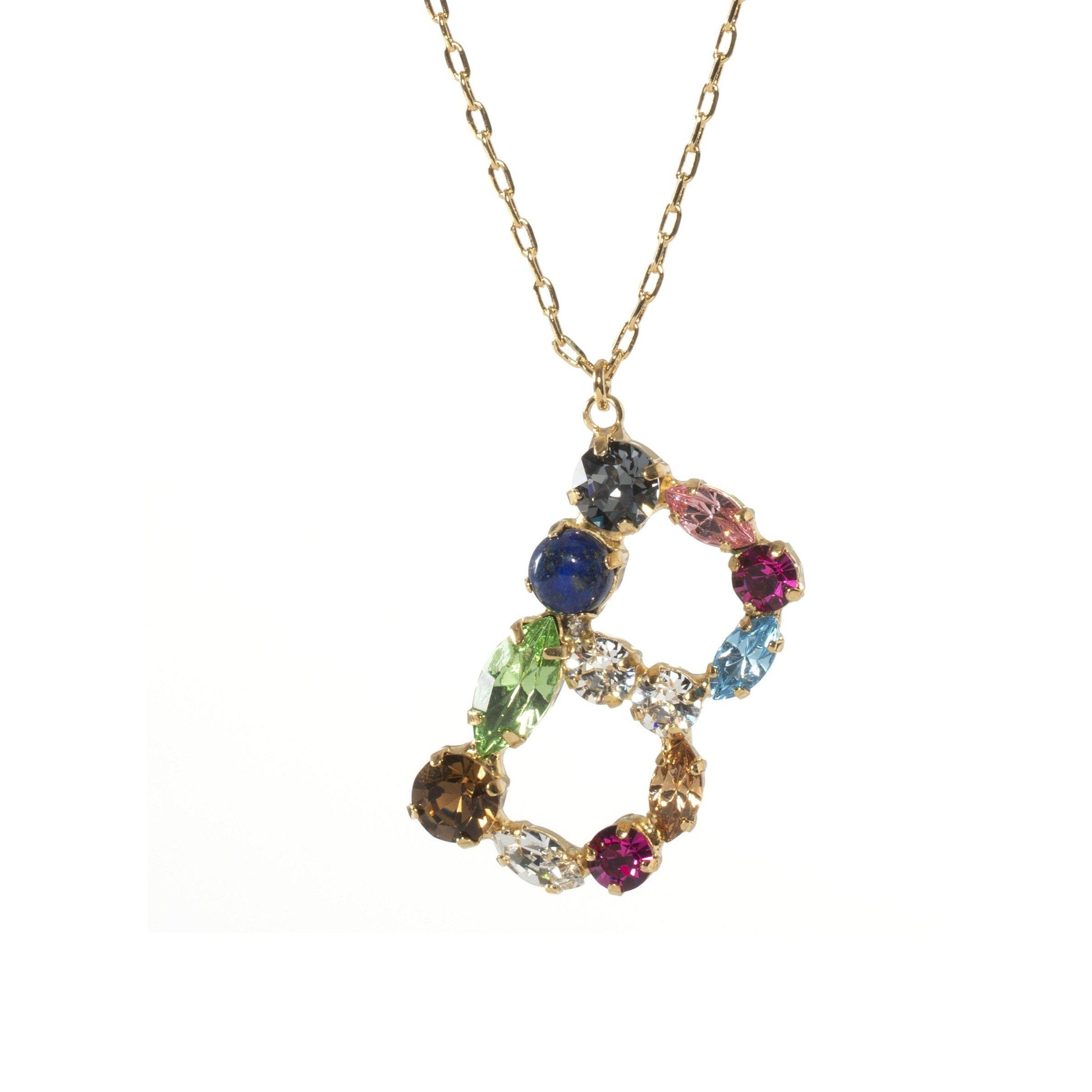 B Crystal Necklace