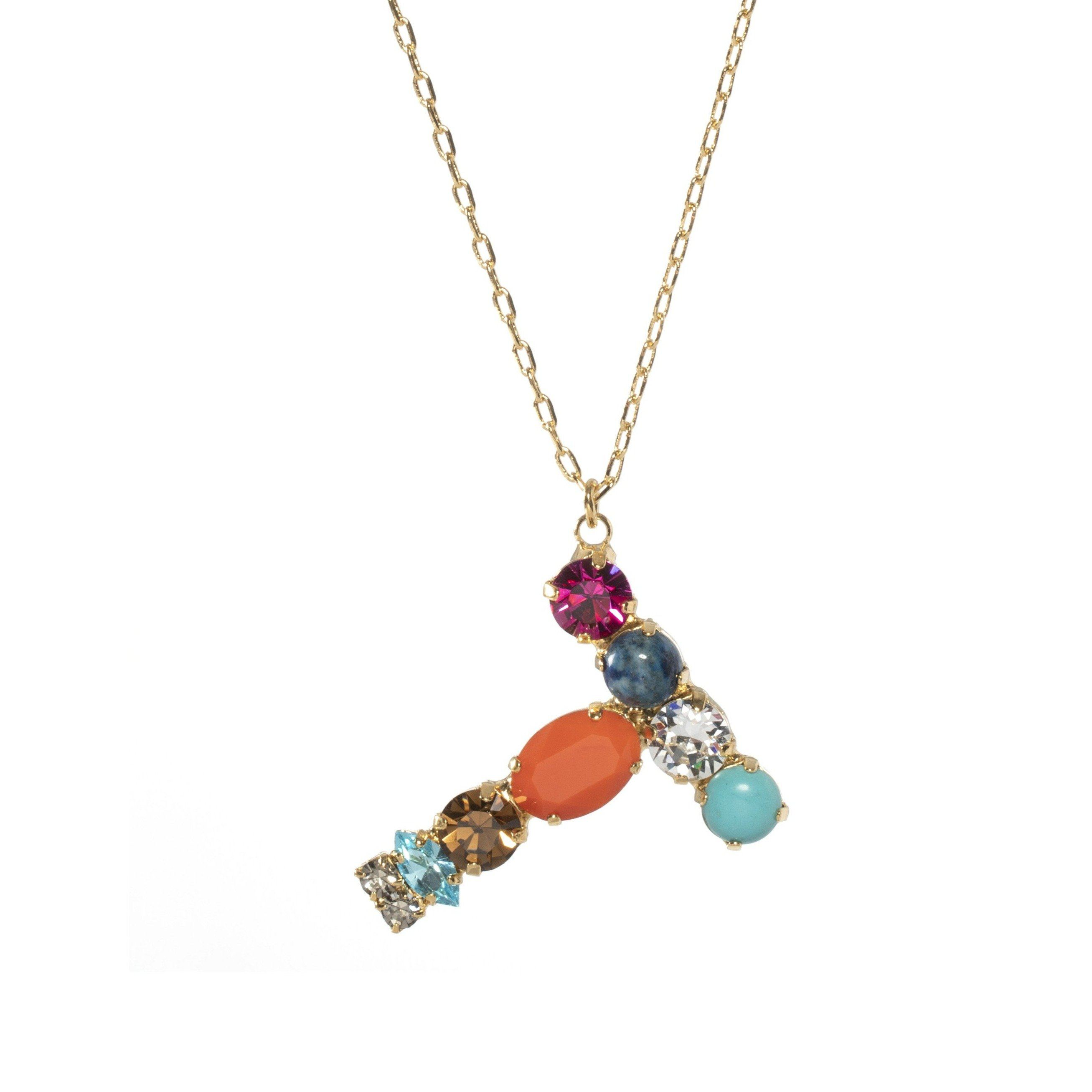 T Crystal Necklace