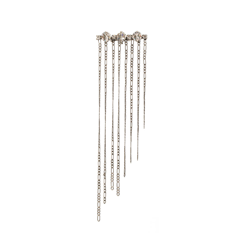 Coravana - Crystal Fringe Brooch - Clear White