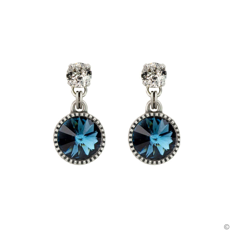 Coravana - Daydream Earrings - Blue & Silver