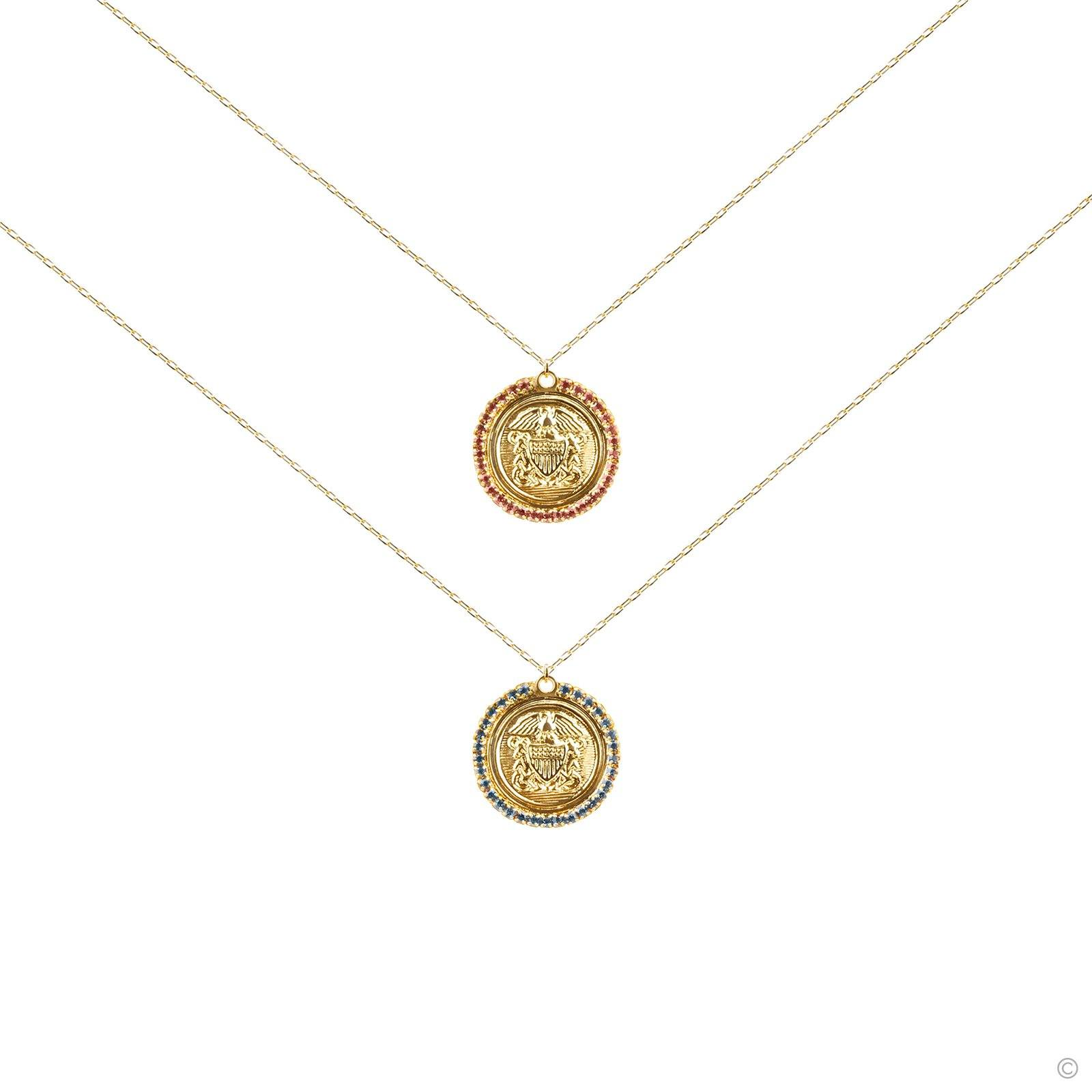 Dual Shield Coin Necklace