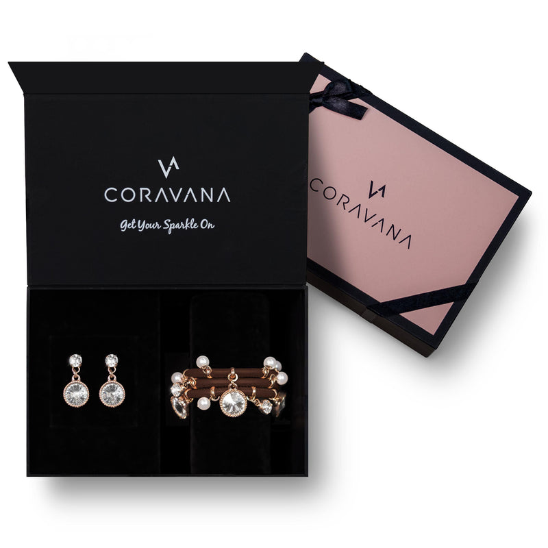 Coravana - Harmony Brown Rose Gold Box