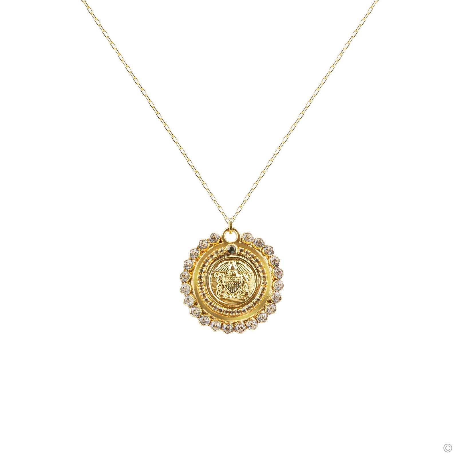 Medallion Coin Long Necklace