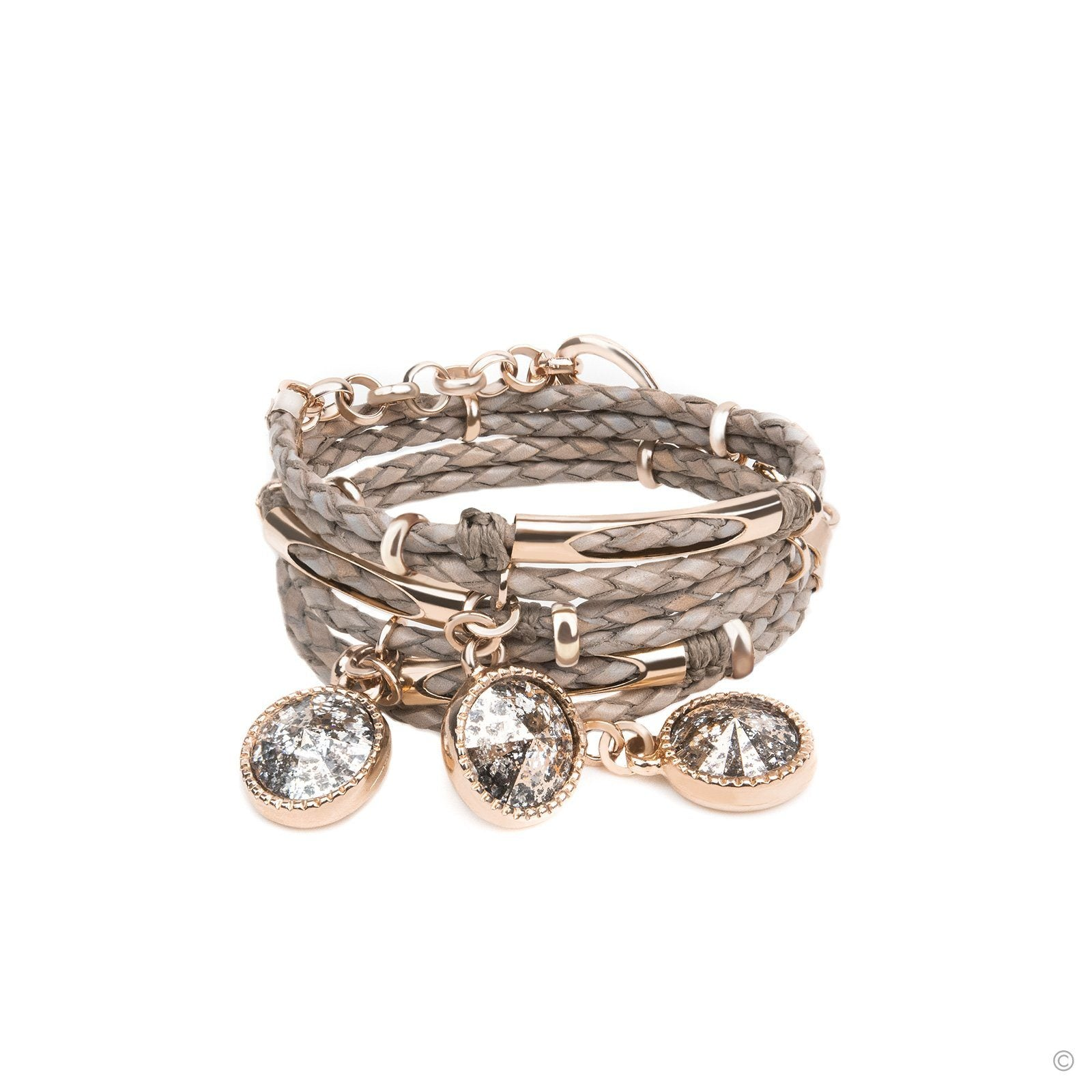 Miss Daydream Bracelet - Taupe & Rose Gold