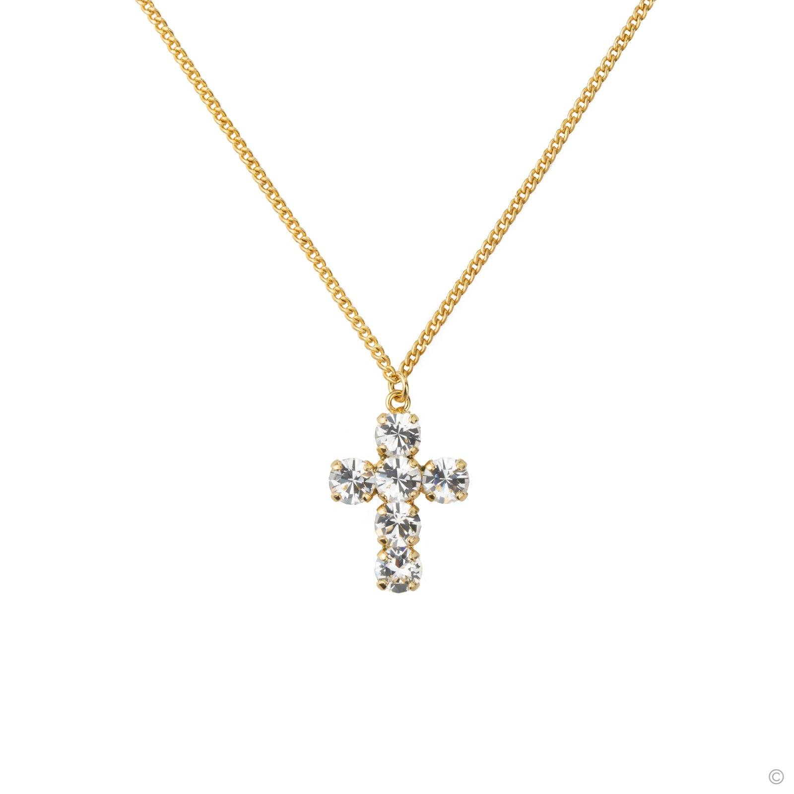 Sparkle Big Cross Necklace