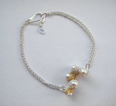 Baya 5 Bud Bracelet in Silver and Gold