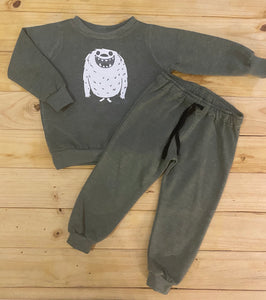 Boys Monster | Olive Green Sweater