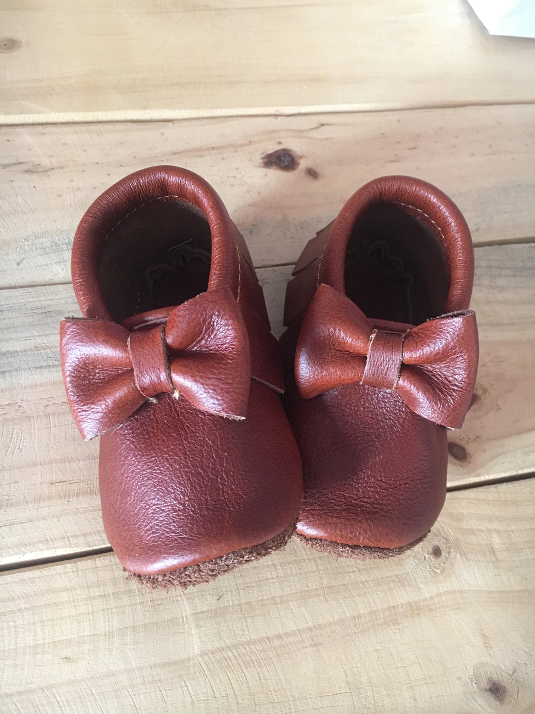 lillie and me leather baby shoes baby mocs brown