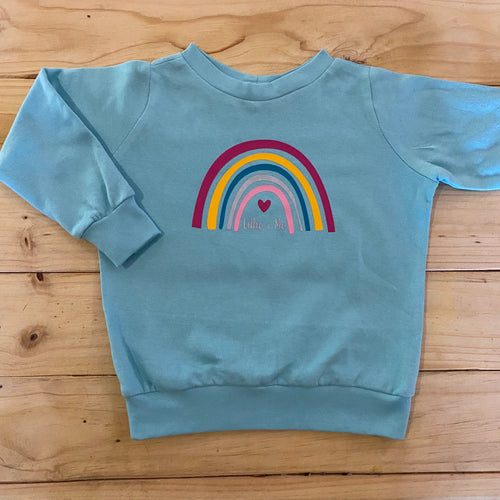 Girls Rainbow | Mint Sweater