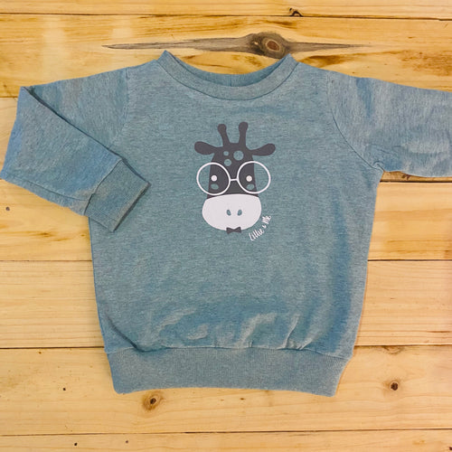 Boys Giraffe | Duck Egg Sweater