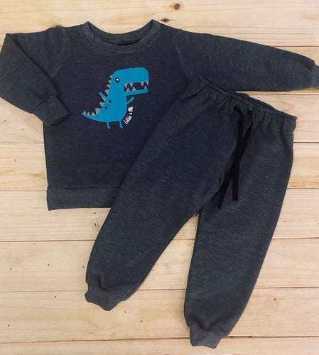 Boys Dino | Dark Grey Set