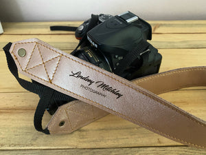 Leather Camera Straps | Rose Gold
