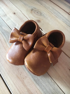 lillie and me leather baby shoes baby mocs mustard