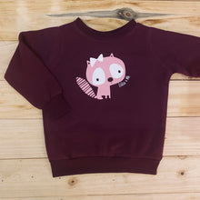 Load image into Gallery viewer, Girls Kitty | Maroon Sweater