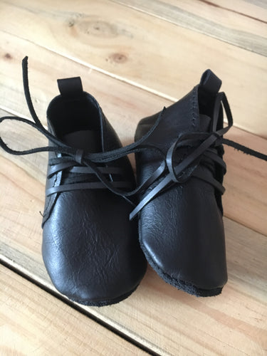 lillie and me leather baby shoes baby vellies black