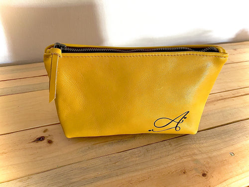 Make Up Bag | Mustard Yellow