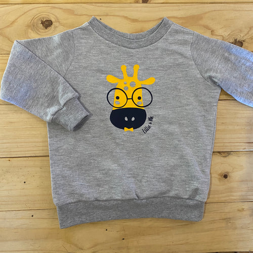 Boys Giraffe | Grey Sweater