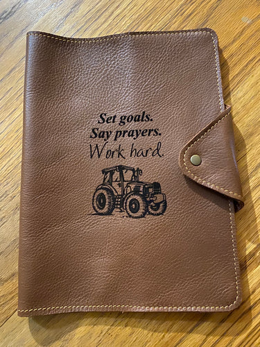 A5 Leather Diary Cover | Tan