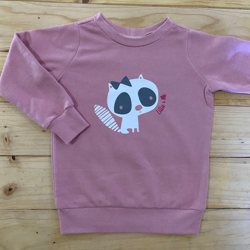 Girls Kitty | Dusty Pink Sweater