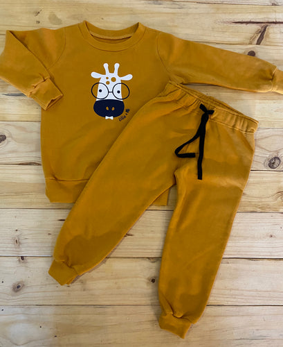 Boys Giraffe | Mustard Set
