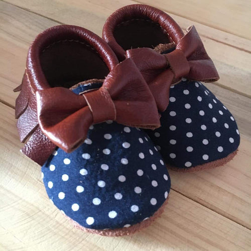 Navy Dots | Brown