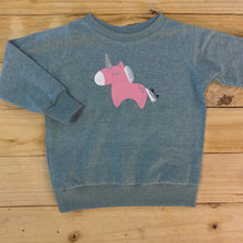 Load image into Gallery viewer, Girls Unicorn | Duck Egg Sweater