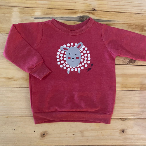 Girls Sheep | Red Sweater