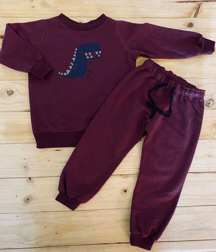 Boys Dino | Maroon Set