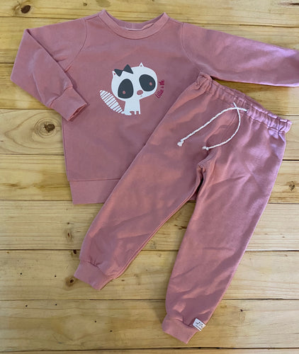 Girls Kitty | Dusty Pink Set