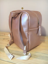 Load image into Gallery viewer, Leather Kids Backpack | Rose Gold