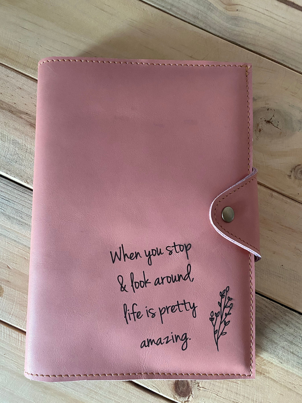 A5 Leather Diary Cover | Pink