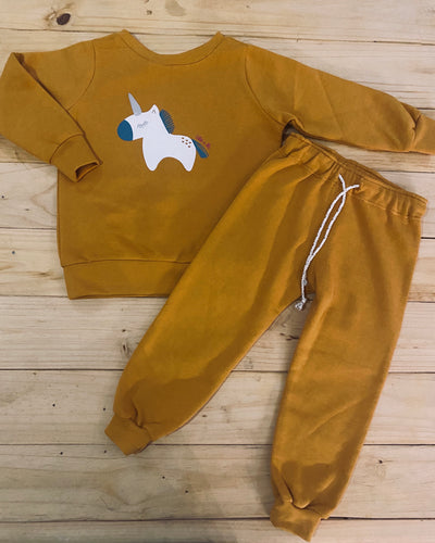 Girls Unicorn | Mustard Set
