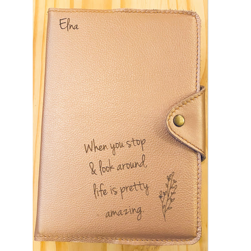 A5 Leather Diary Cover | Rose Gold