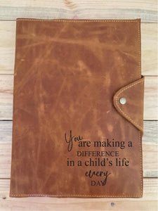 A4 Leather Diary Cover | Toffee