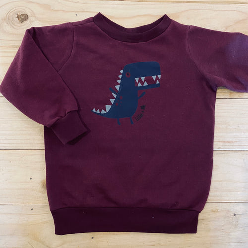 Boys Dino | Maroon Sweater