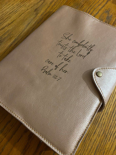 A4 Leather Diary Cover | Rose Gold