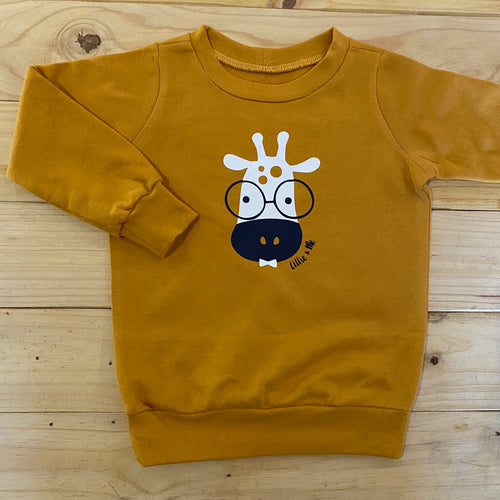 Boys Giraffe | Mustard Sweater