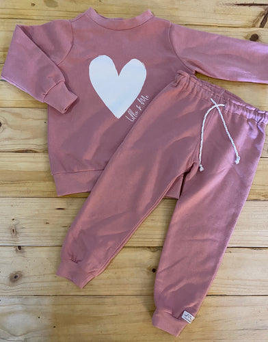 Girls Heart | Dusty Pink Set