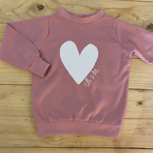 Girls Heart | Dusty Pink Sweater