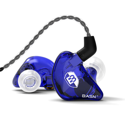 BASN Bmaster Triple Drivers In Ear Monitor Headphones (Blue)
