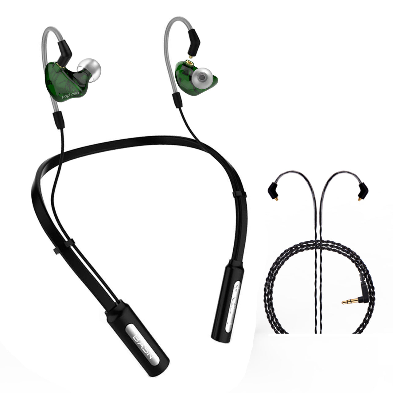 BASN 10H Playtime Bluetooth Headphones Wireless Headsets (Green)