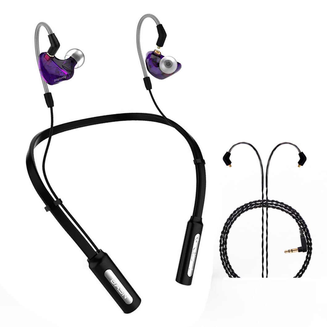 BASN 10H Playtime Bluetooth Headphones Wireless Headsets (Purple)