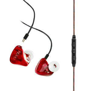 BASN Tempos V In Ear Monitor Headphones (Red)