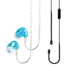 BASN Tempos Pro In Ear Monitor Headphones Blue